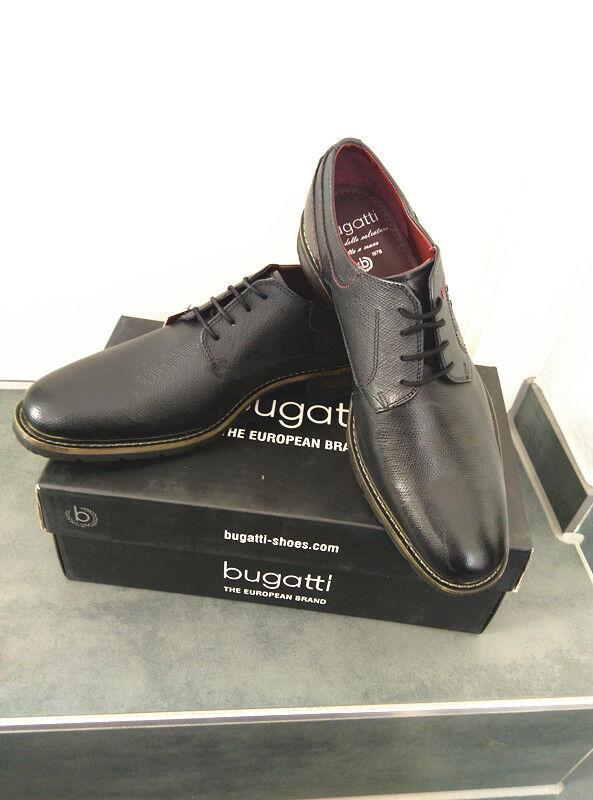 Bugatti Bugatti Bugatti Herren Businessschuhe Schnür Anzugschuhe Geschäfts Halbschuhe Gr.43 blk 7407ed
