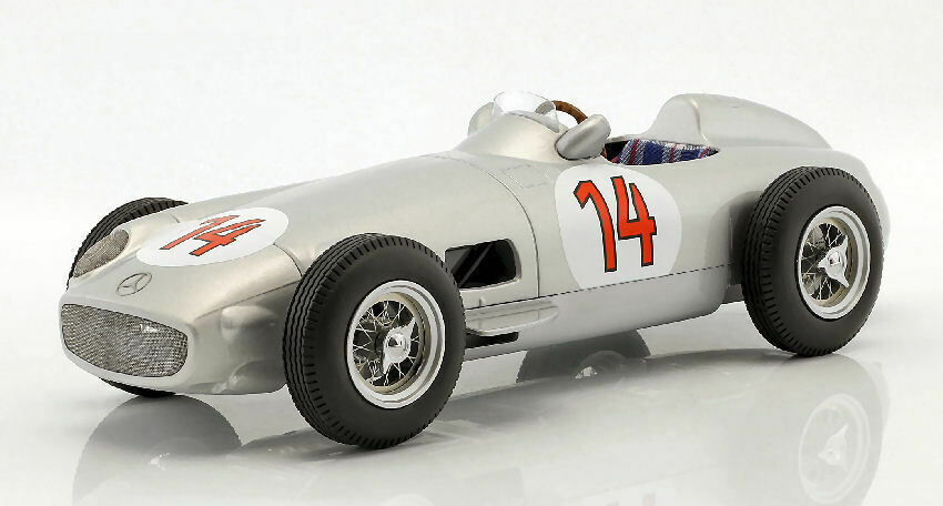 Mercedes w196 Stirling Moss 1955 nd Belgium GP 1 18 Model I-stairs