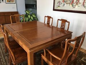 Details About Solid Rosewood Dining Table And Chairs
