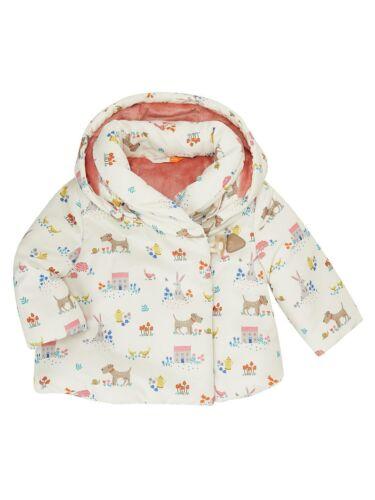 Cream New John Lewis Baby Leckford Animal Hooded Coat 6-9 Months RRP £29,