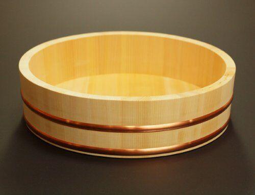 Japanese Sushi Oke Rice baquet en bois bol de riz fait à la main 33 cm (12.99 in (environ 32.99 cm)) NEUF