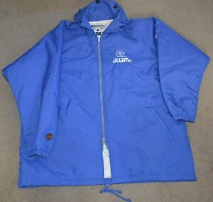 low priced d04a2 a631f Details about Vtg New York Giants Hooded Quilt Lined Sideline Rain Jacket  XL Champion