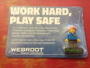 Best-Buy-Exclusive-Lego-Minifigure-New-Sealed-webroot-Rare-in-shrink-wrap