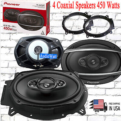 """2PAIRS PIONEER TS-A6960F 450W MAX 6/"""" X 9/"""" 4-WAY 4-OHM STEREO COAXIAL SPEAKER"""