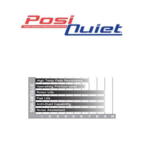 POSI QUIET SM Pads Evolution EVO X TBP19301 FRONT Drill Slot Brake Rotors