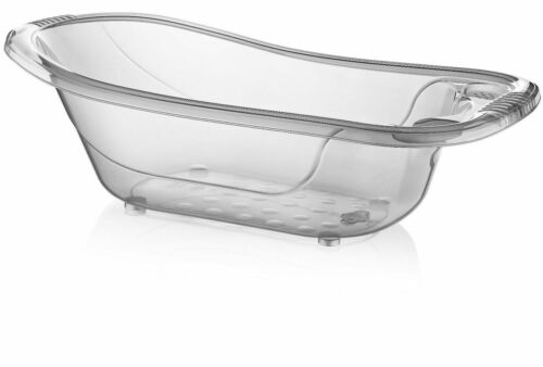 50 LITRE LARGE PLASTIC BABY BATH - TRANSPARENT AQUA BABY TUB - KIDS - INFANT