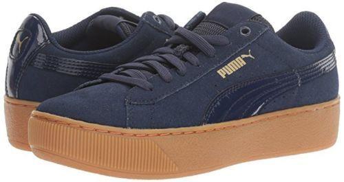 Puma Vikky 1.5  Plataformas Gamuza ZapatilDe mujer Zapatos Azul 363287-02 Nuevo