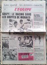 L'Equipe Journal 10/5/1985; Vachon/ Monaco-Racing/ Millar/ Vaquerin/ Gym Helsink