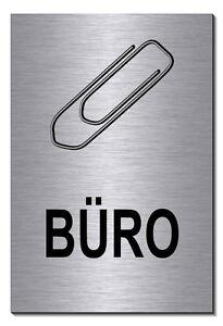 Möbel & Wohnen Büro-aluminium-edelstahl-optik-schild-15 X 10 Cm-warnschild-hund-hinweisschild Dekoration