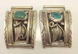 925 STERLING SILVER NATIVE AMERICAN TURQUOISE WATCH BAND COMPONENTS WB