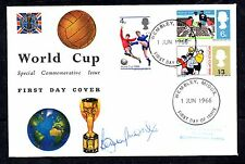 1966 World Cup FDC. Wembley FDI signed Bobby Moore. Excellent!