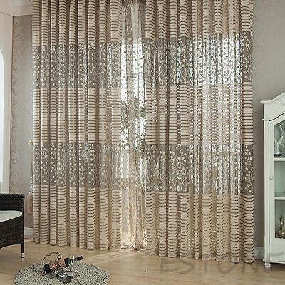 Room Tulle Modern Door Window Curtain Balcony Drape Panel Sheer Scarfs Valances