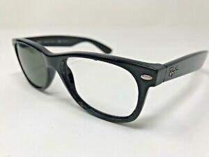 RAY-BAN-NEW-WAYFARER-RB2132-Sunglasses-Frame-55-18mm-901-58-Black-Polish-IF35