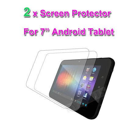 """2 X 7"""" Pollici Clear Proteggi Schermo Per 7"""" Natpc M009s Allwinner A10 Tablet-"""