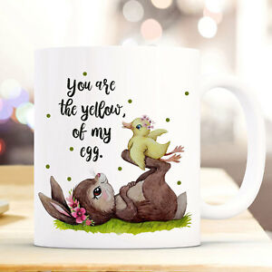 Baby Diskret Tasse Becher Hase & Ente Spruch You Are The Yellow Of My Egg Kaffeetasse Ts940 Büro & Schreibwaren