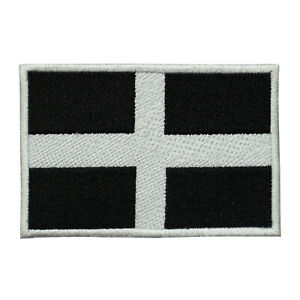 Cornwall County Flag Patch Iron On Patch Sew On Embroidered Patch
