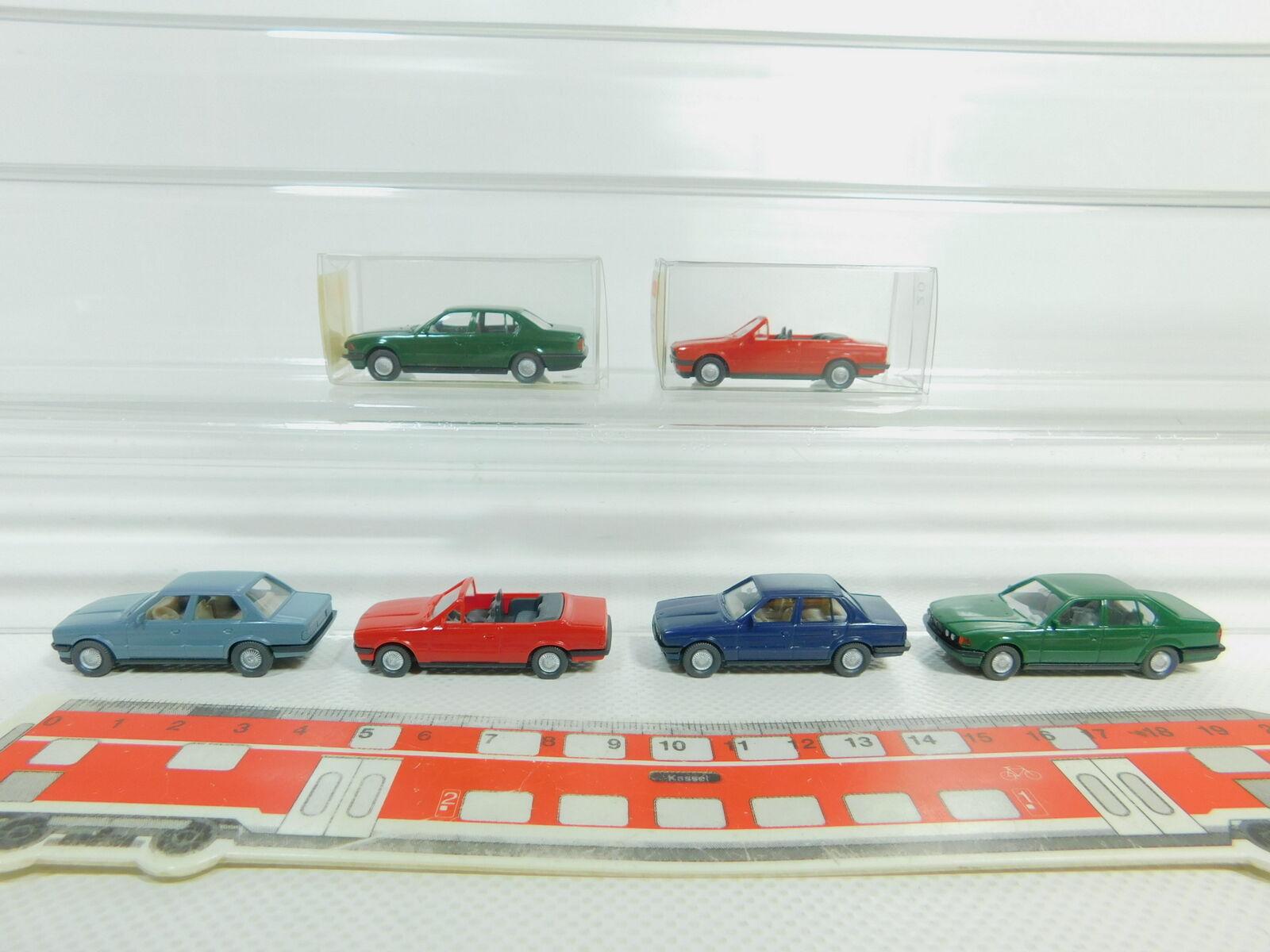 Bo612-0, 5  6x Wiking h0 1 87 voiture BMW  192 750i  191 320i cabriolet etc Neuw 2x neuf dans sa boîte