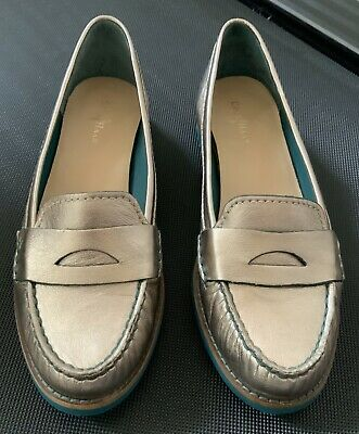 COLE HAAN + N AIR Sole ~ Bronze METALLIC Leather PENNY ...