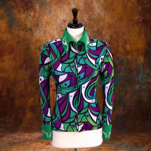2XSMALL Western Showmanship Pleasure Horsemanship Show Jacket Shirt Rodeo Queen