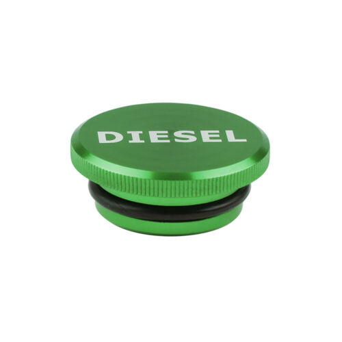 Diesel Billet Aluminum Fuel Cap Magnetic Green For 2013-2017 Dodge Ram Cummins
