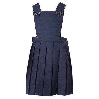 John Lewis School Uniform Girls Bib Pinafore Teflon Coated blue 3-4  rrp £15