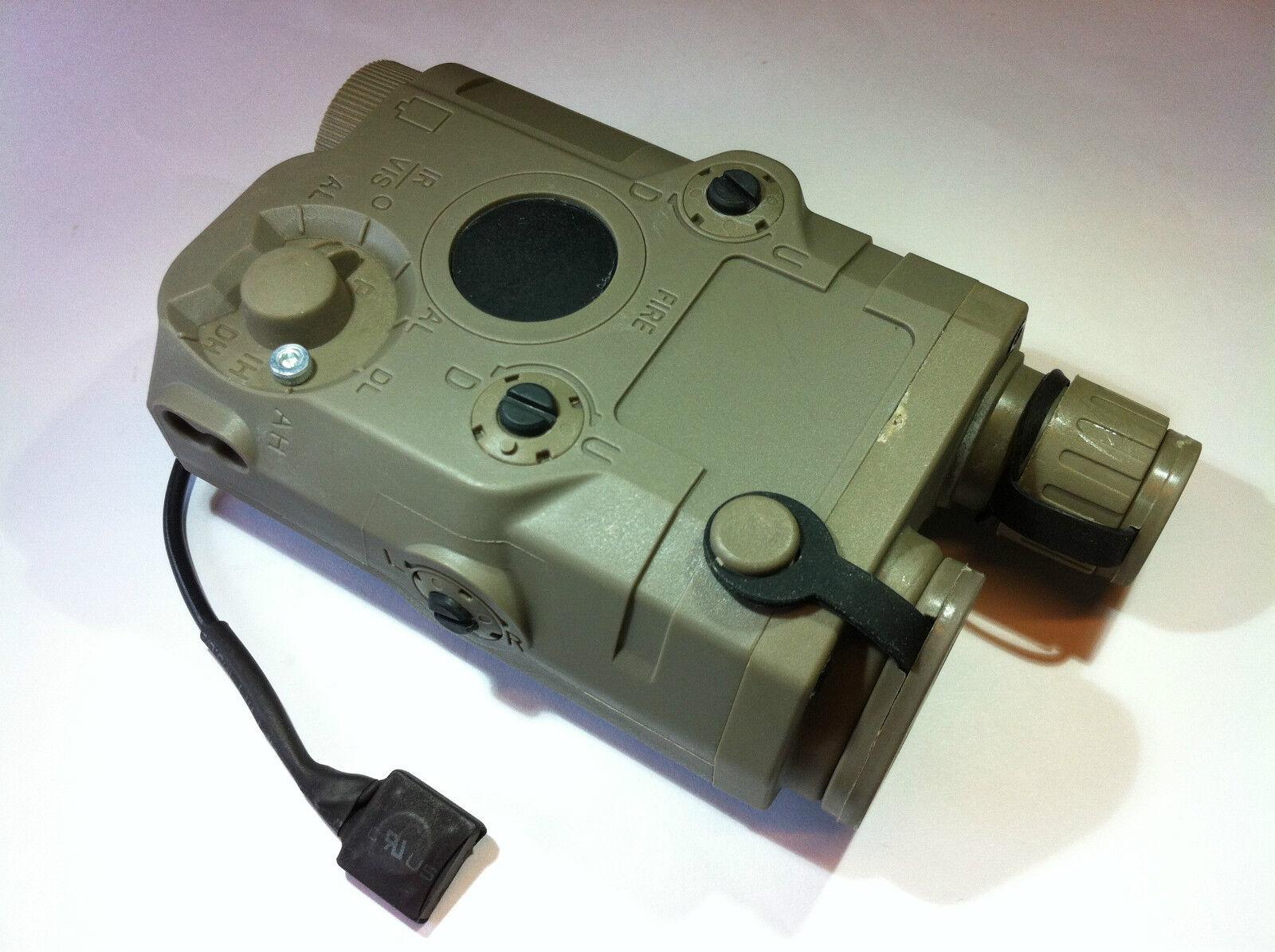 BATTLEAXE PEQ-15 Green Laser&Battery Case for Airsoft Marui AEG GBB (Tan)