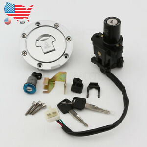 Details About Ignition Switch Fuel Gas Seat Lock Key Set Fit Honda Cbr600rr 2005 2006