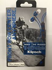 Blue Klipsch Image S4i Rugged All Weather In Ear Headphones