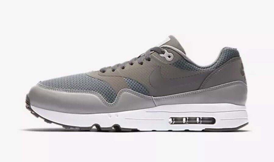 120 Nike Air Max 1 Ultra 2.0 Essential Men's Size 10.5 Shoes 875679-003 Grey