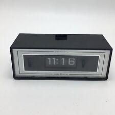 GE Flip Alarm Clock Lighted Dial VTG 8142-4 General Electric 70s Vintage Working