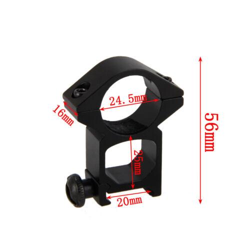 """Tactique 45°/&1/"""" 25.4mm Bague Lampe de poche Portée Laser Fusil à pompe Fusil"""