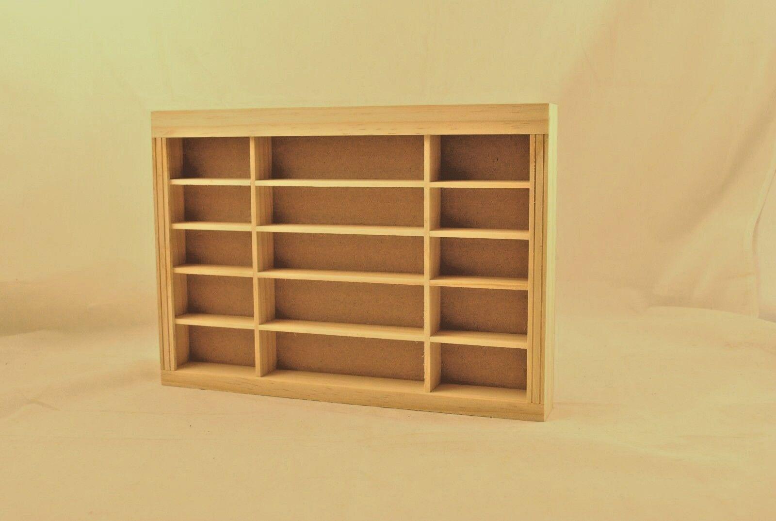 Store Shelf Unit 9954 Dollhouse Miniature 1 12 Scale Houseworks Unfinished Wood