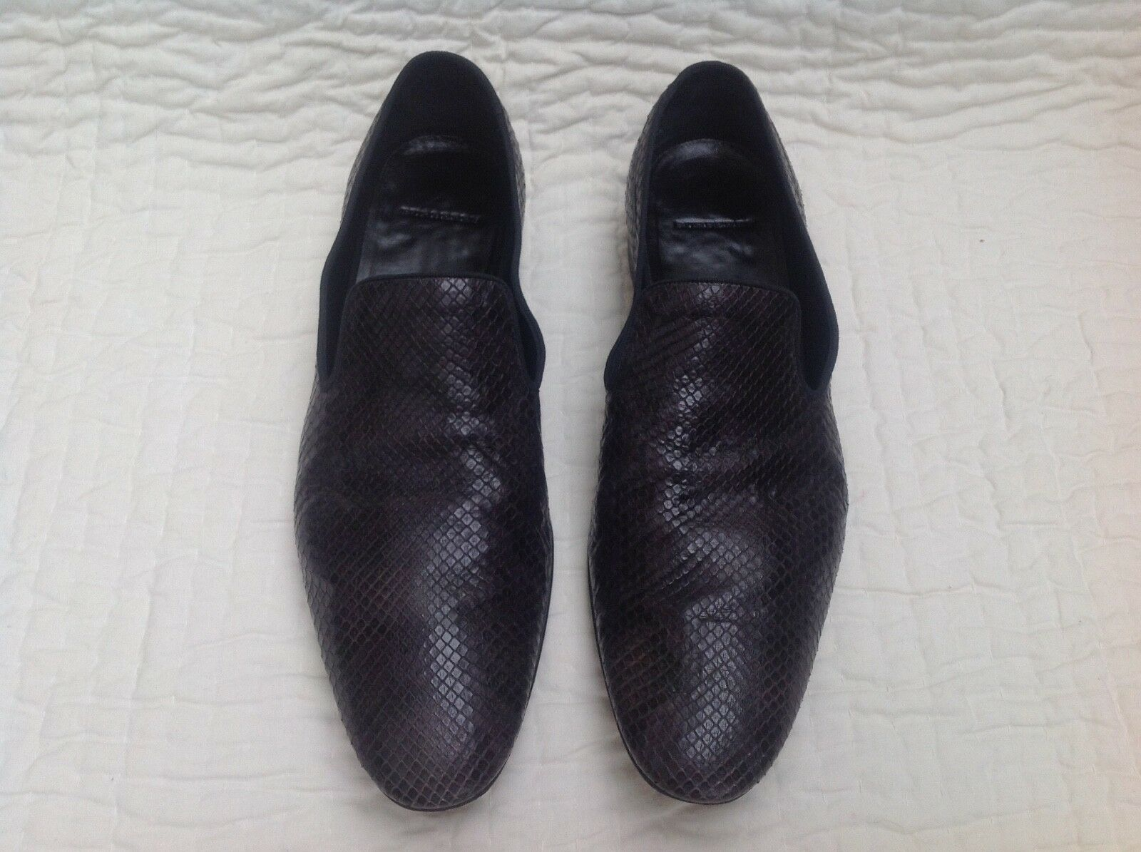 skin snake braun chocolate Python Burberry schuhe loafers 42