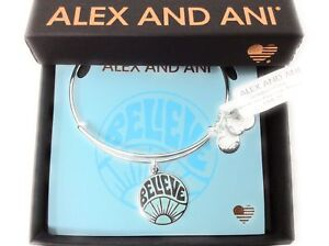 Alex-and-Ani-Words-are-Powerful-Believe-Bangle-Bracelet-Shiny-Silver-NWTBC