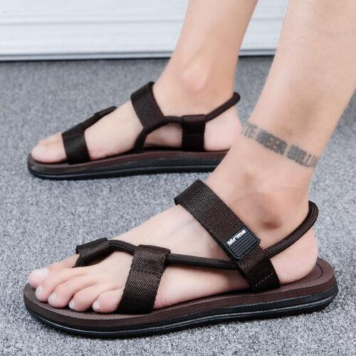 Mens Cut out Flats Beach Walking Sports Casual Summer Slingbacks Sandals Shoes