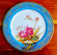 Faux China Tin Dinner Campion Plate Pattern 1880 Sevres Museum Reproduction