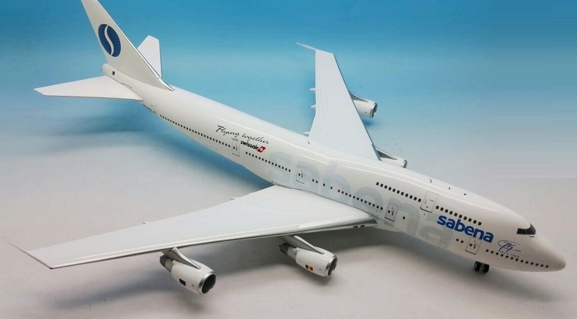 Inflight 200 iFCL 7430416 1 200 b747-300 sabena oo-limited exclusive edition sgc