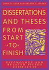 Dissertations and Theses from Start to Finish: Psychology and Related Fields by John D. Cone, S.L. Foster (Paperback, 2006)