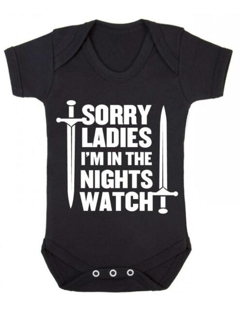 "Baby Bodysuit  ""Sorry Ladies Im in the Nightswatch""  Game of Thrones Baby Vest"