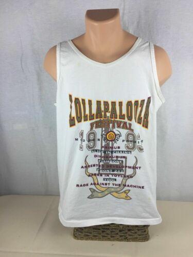 Lollapalooza - 1993 - White Tank Top - Primus; Fis