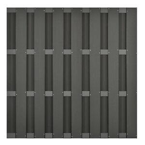 WPC-Sichtschutz-Zaun-Element-180-x-180-cm-Dichtzaun-Laermschutzzaun-anthrazit
