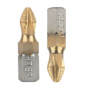 "25mm Magnetic Anti-Slip PH2 Phillips Cross Head Screwdriver Bit 1//4/"" Hex Shank"