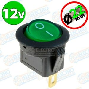 Interruptor-ON-OFF-redondo-22mm-12v-16A-con-luz-VERDE-Arduino-Electronica-DI
