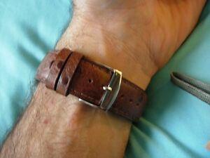 17-mm-Stil-Vogelstrauss-Gold-Armband-Kalb-echt-Couture-Farbton-auf-Ton-Handarbeit