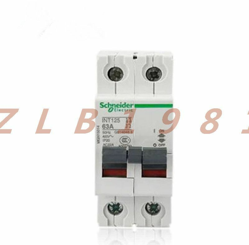 ONE NEW- Schneider INT125 isolating switch 2P63A