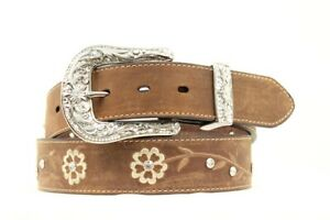 Ariat-Women-039-s-Floral-Brown-Leather-Belt-A1510202