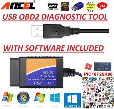CITROËN DS C3 C4 C5 OBD2 USB Original Car Code Scanner DIAGNOSTIC TOOL  Interface | eBay