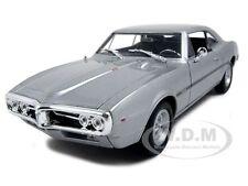 1967 PONTIAC FIREBIRD SILVER 1/24 DIECAST CAR MODEL BY WELLY 22502