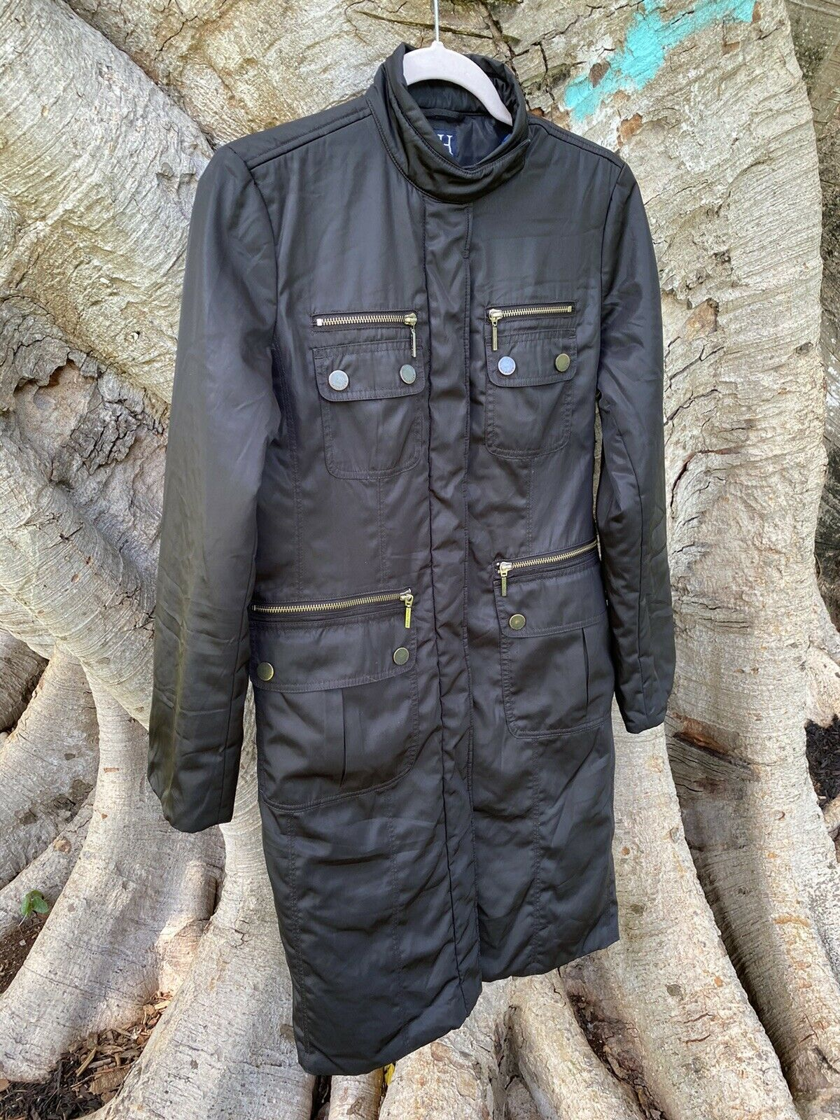 Womens Authentic Vintage Full Lenght Coat Black A… - image 4