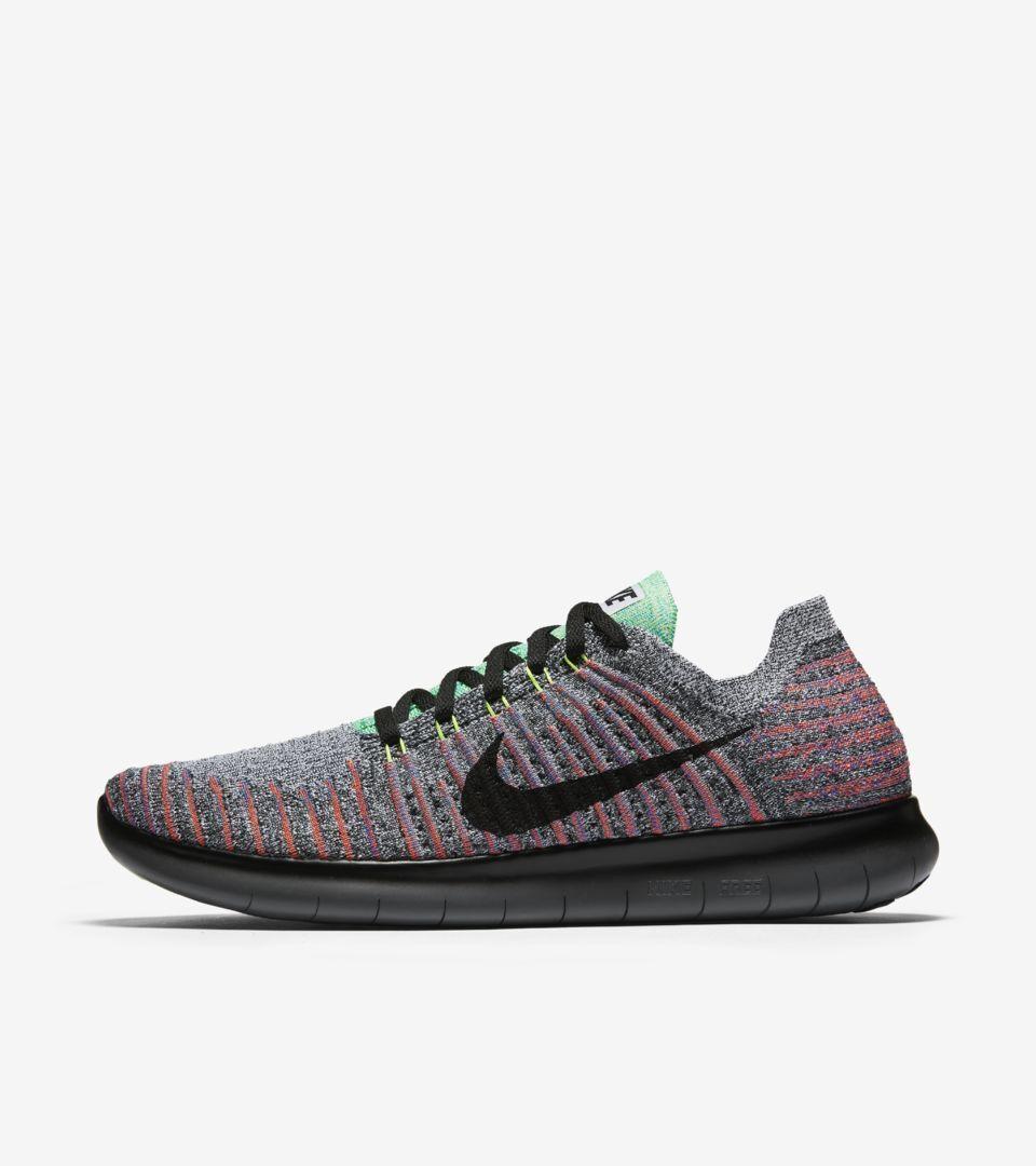 Nike Men's Free RN RN Free Flyknit Running Shoe - Size 11 (WHITE/BLACK/TOTAL CRIMSON) 6ff2f5